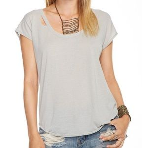 Chaser Vintage Jersey Distressed Grey T-shirt NWT